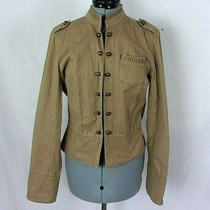 Apt. 9 Jacket Military Cadet Style Tan medium